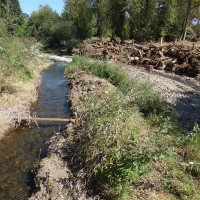 Diversion channel runs clear and clean
